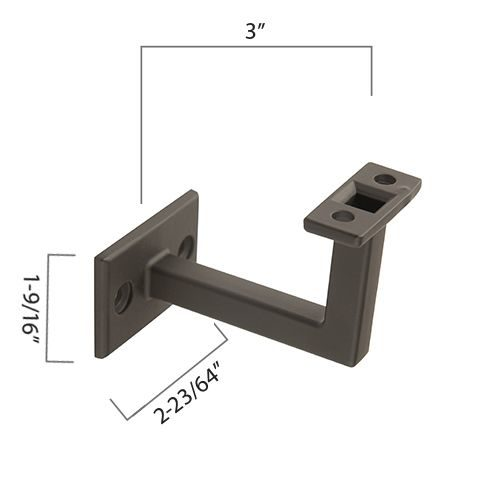 "Zinc Diecast Brackets, 3"" Extension, Fixed Saddle, 2 Mounting Holes"