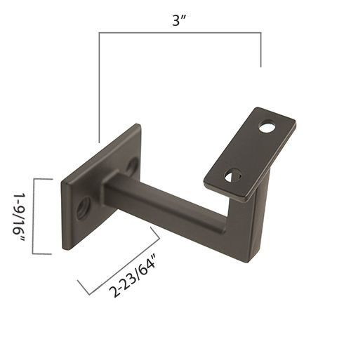 "Zinc Diecast Brackets, 3"" Extension, Adjustable Saddle, 2 Mounting Holes"