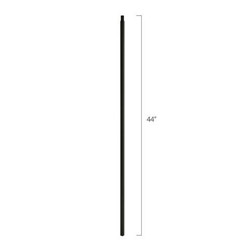 Steel Tube Spindles - 5/8 in. Square Series With Dowel Top