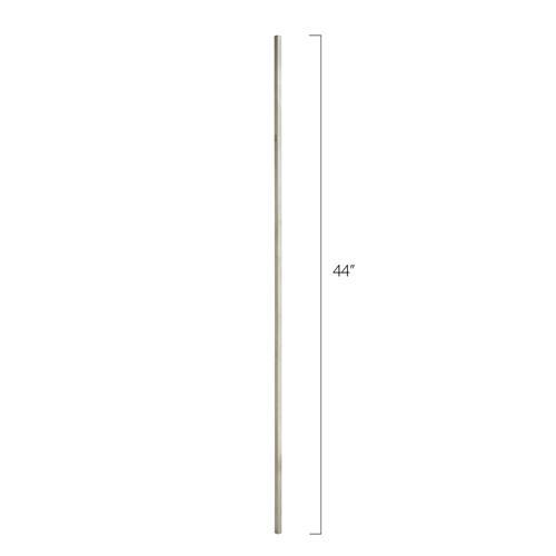 Stainless Steel Tube Spindles - 1/2 in. Square Series - Plain