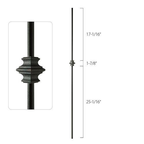 Steel Tube Spindles - 1/2 in. Round Series - Single Collar