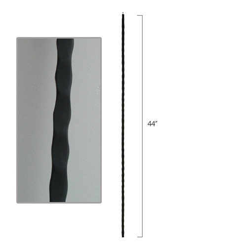 Hammered Steel Tube Spindles - 1/2 in. Square Series With Dowel Top